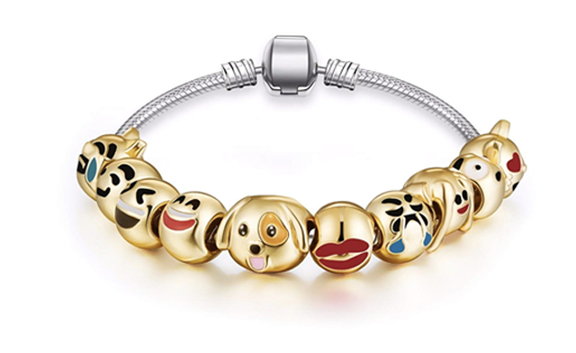 $14 for an Emoji Charm Bracelet (a $45 Value)