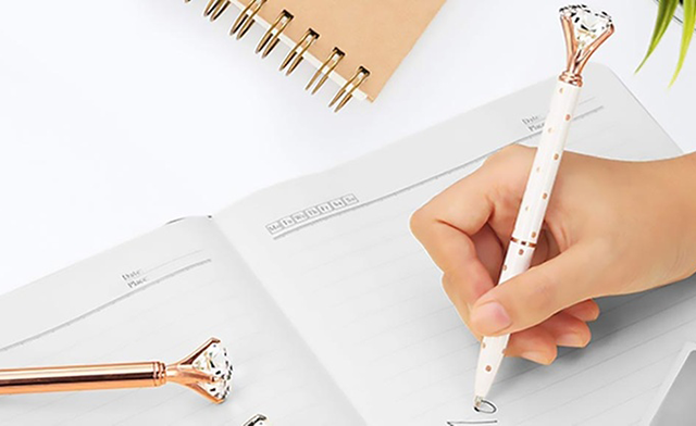 $19.99 for a 5-Pack of Multi-Colour Diamond Ballpoint Pens (a $44.99 Value)
