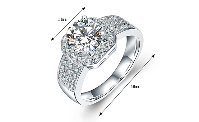 $11.95 for a Diamond Simulant Engagement Ring (a $39.99 Value)