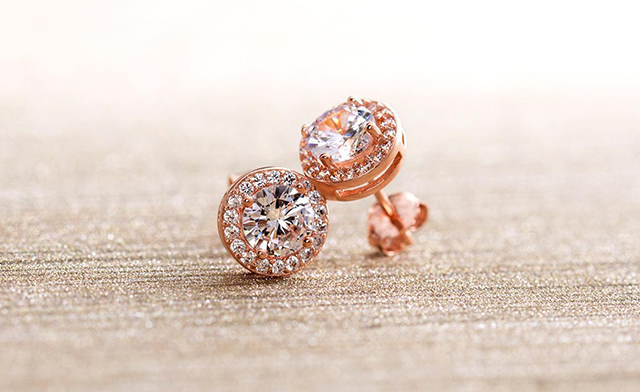 $9.99 for 3.44 CTTW Halo Stud Earrings with Swarovski Elements (an $89 Value)