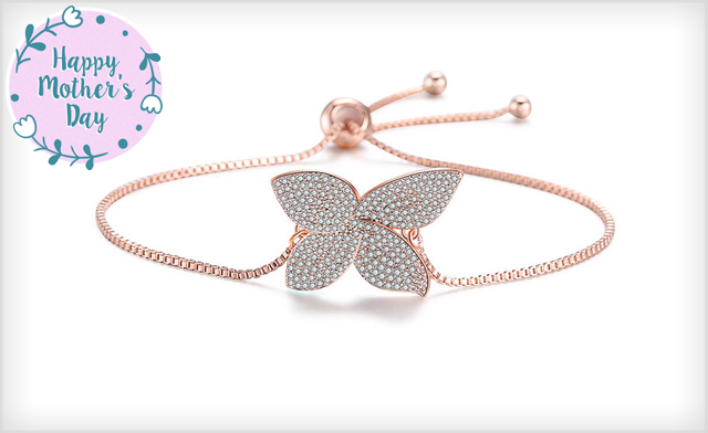 $20 for an Adjustable Swarovski® Lucky Clover Bracelet - Shipping Included (a $139 Value)