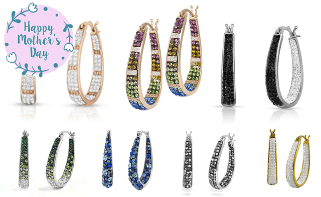 $16.99 for a Pair of Crystal Hoop Earrings (a $109 Value)