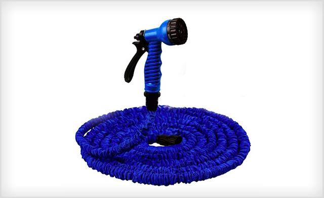 Up to 73% off a Garden Hose with Nozzle - 50 Feet or 100 Feet