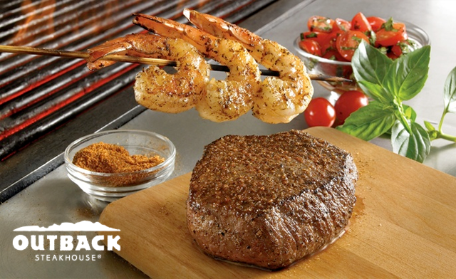 $12 for $20 Towards Food for Two People at Outback Steakhouse