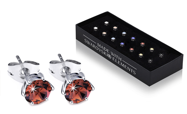 $21.99 for a Set of 7 Swarovski® Crystal Earrings - Shipping Included (a $129 Value)