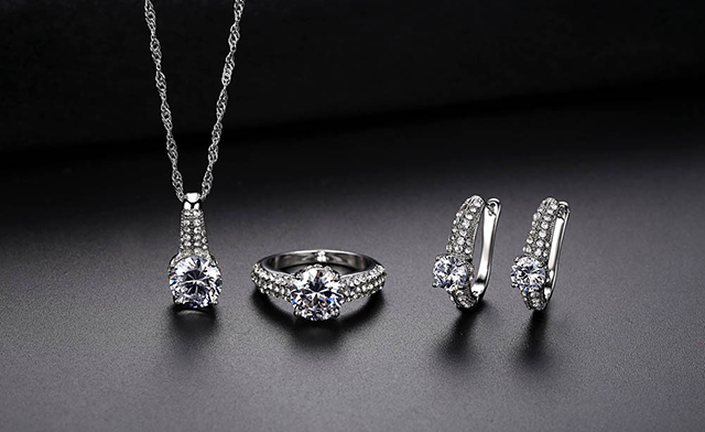 $17 for a Zircon 3-Piece Jewellery Set - Shipping Included (a $99 Value)