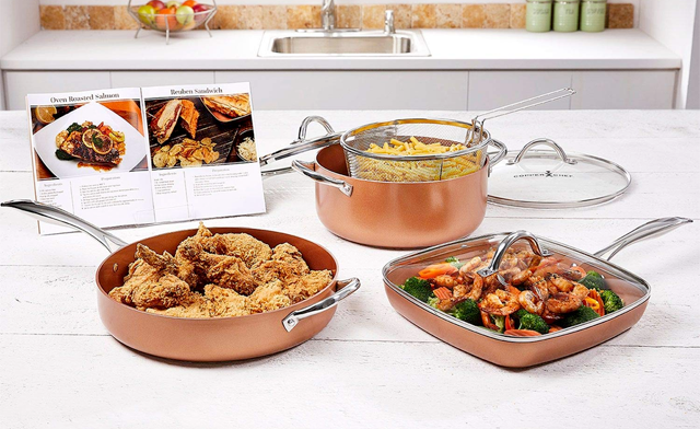 $74.95 for the Copper Chef Pro 8-Piece Pan Set (a $179.95 Value)