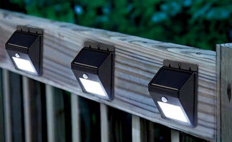 Up to 47% off Solar Powered Outdoor LED Lights with Motion Sensor