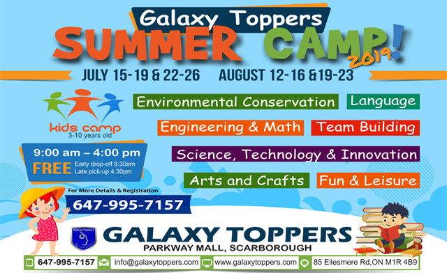 $199 for One Week Full Day Summer Camp at Galaxy Toppers Coaching Centre (a $330 Value)