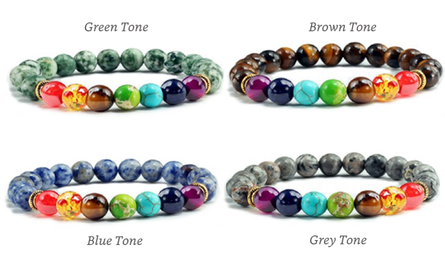 $12 for a Natural Healing Chakra Bracelet (a $44 Value)