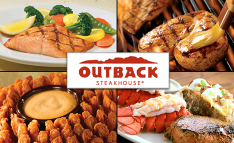 Up to 72% off Three-Course Dinners at Outback Steakhouse