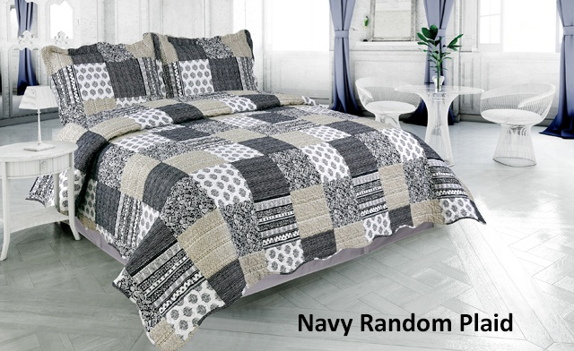 Up to 78% off Pinsonic 3-Piece Quilt Sets Featuring 6 Unique Designs