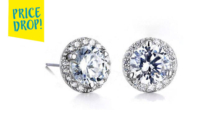 $10.55 for Halo Stud Earrings with Swarovski Elements (a $79 Value)