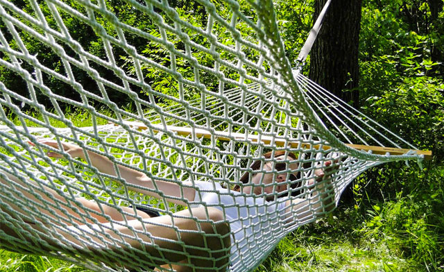 $38.98 for an Arctic Sky Deluxe Oversized 2-Person Rope Hammock (a $109 Value)