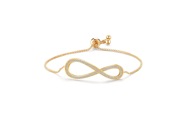 $21 for a Swarovski Adjustable Infinity Bracelet - Shipping Included (a $129 Value)