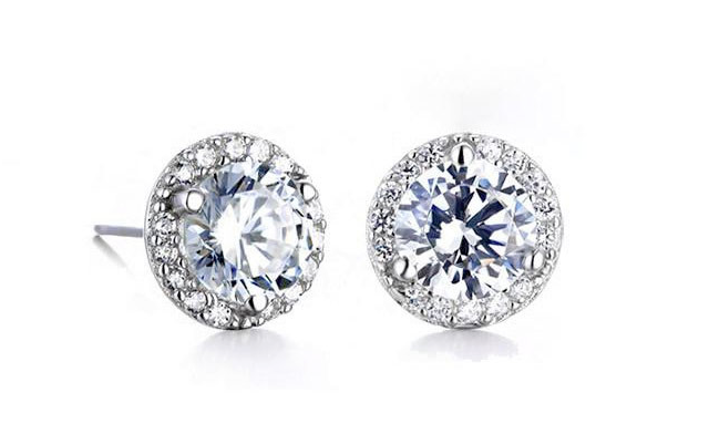 $11 for Halo Stud Earrings with Swarovski Elements (a $79 Value)