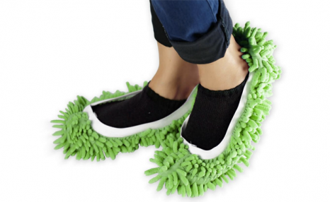$16 for Microfibre Washable Chenille Mop Slippers (a $34.99 Value)