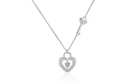 $21 for an Unlock My Heart Pendant Necklace (a $129 Value)