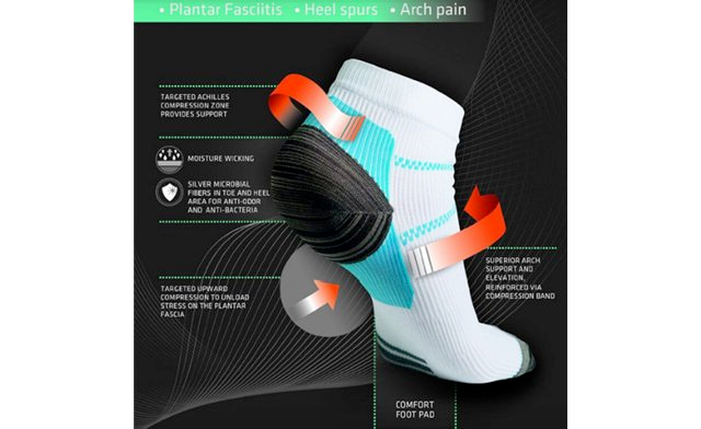 $15 for a 4 Pack of Plantar Fasciitis Socks (a $76 Value)