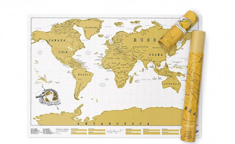 $21.99 for a Luxury White Coated Paper Material Scratch World Map (a $39.95 Value)
