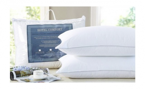 Up to 71% off a 2-Pack of 300 Thread Count Cotton Microfiber Gel Pillows