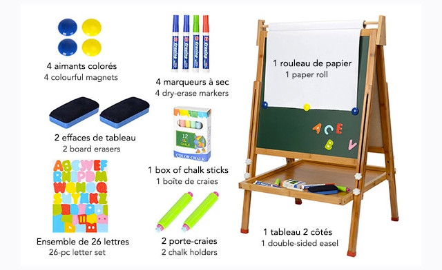 $39.99 for a Children's Bamboo Art Easel Set with Accessories (an $89 Value)