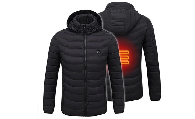 $69 for a Men's Waterproof Digital Heating Hooded Outdoor Windproof Jacket (a $249 Value)