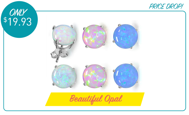 $19.93 for an Opal Earring Set (3-Pairs) (a $155 Value)