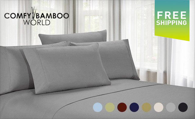 $29 for Luxury Microfibre Sheets Available in Twin, Double, Queen or King Sizes (a $129 Value)
