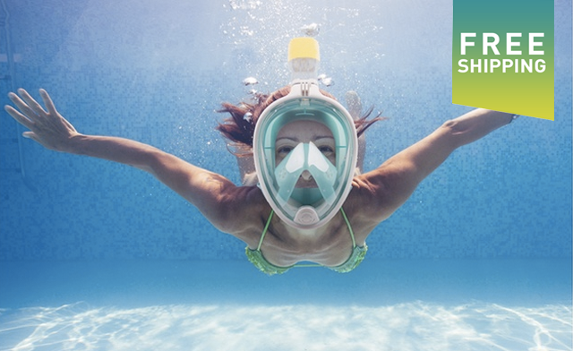 $35 for a BreathFree GoPro Compatible Snorkel and Scuba Mask (a $199 Value)