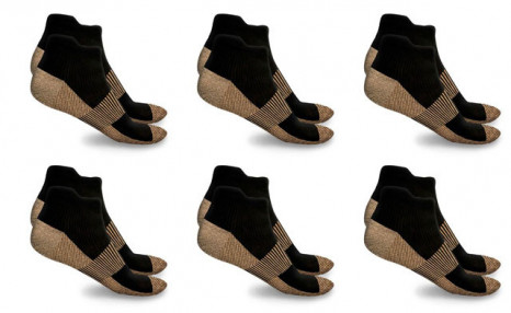 $21.95 for XFit Copper-Infused High-Energy Therapy Socks (6-Pack) (a $109.99 Value)