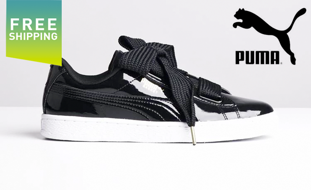 $49 for a Pair of Puma Women's Basket Heart Patent Sneakers (a $120 Value)