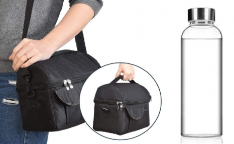 $40 for a Food and Beverage Bag & Reusable Glass Bottle (a $64.80 Value)