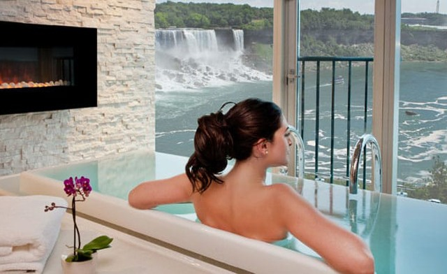 One Night Couples Packages by the Falls, with a Bottle of Wine