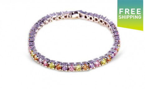 $18 for a Multi-Coloured Tennis Bracelet (a $109 Value)