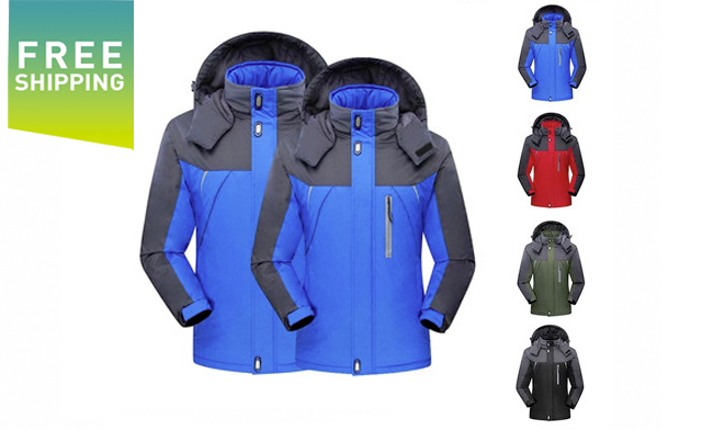 Click to view $59 for a Unisex Waterproof Winter Jacket with Fleece Lining (a $180 Value)