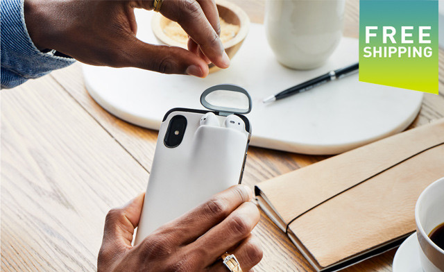 $15 for a 2-in-1 Silicone Gel Phone Case Cover with Airpod Holder - Shipping Included (a $34 Value)