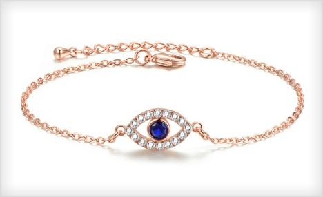 $15 for an Adjustable Swarovski Element Evil Eye Bracelet - Shipping Included (an $89 Value)