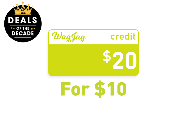 $10 for $20 in WagJag Credit