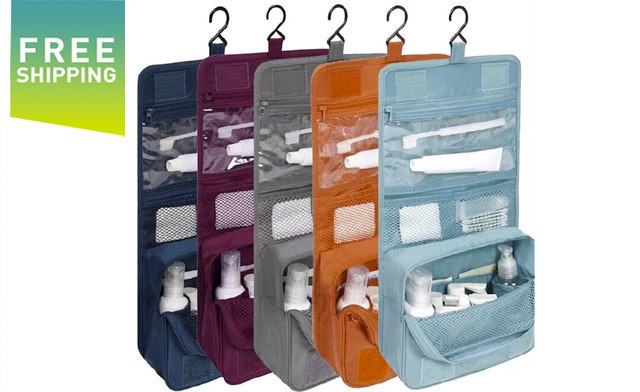 $19 for a Portable Hanging Travel Toiletry Bag - Shipping Included (a $49 Value)