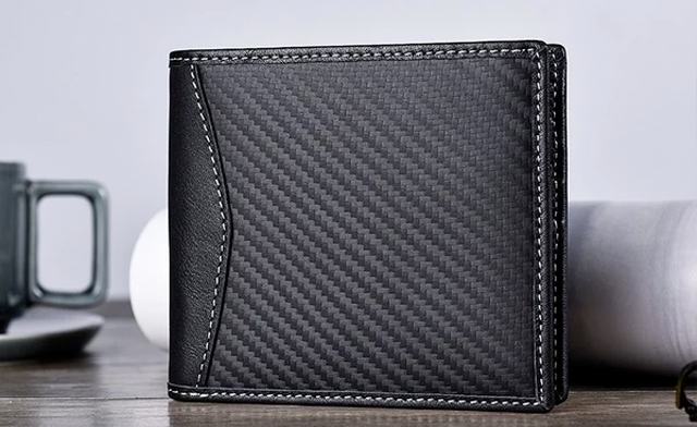 $25 for a Men's RFID Carbon Black ID Wallet - Shipping Included (an $80 Value)