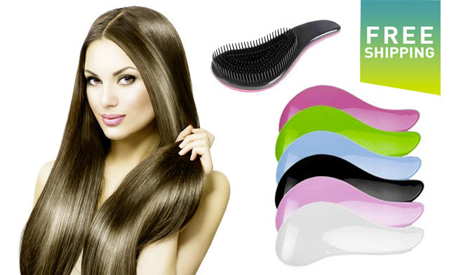 $19 for a 2 Pack of Magic Detangling Hairbrushes - Shipping Included (a $38 Value)