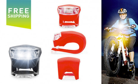 $16.95 for a Clip-On Bicycle Headlight - Shipping Included (a $29.99 Value)