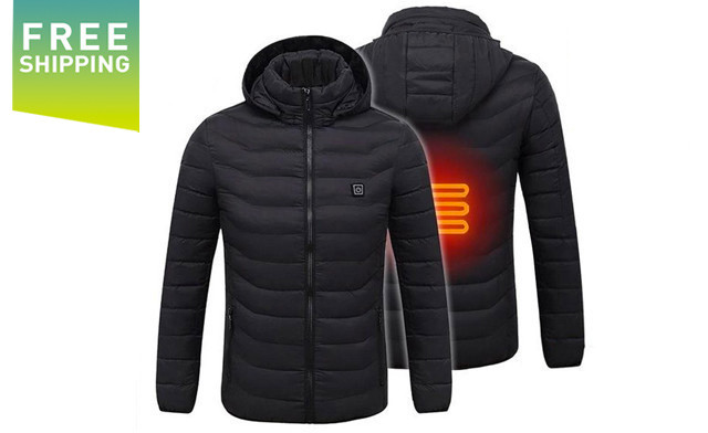 $69 for a Men's Waterproof Digital Heating Hooded Outdoor Windproof Jacket - Shipping Included (a $249 Value)