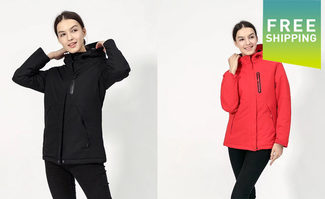 $75 for a Unisex Waterproof Digital Heating Hooded Outdoor Windproof Jacket - Shipping Included (a $279 Value)