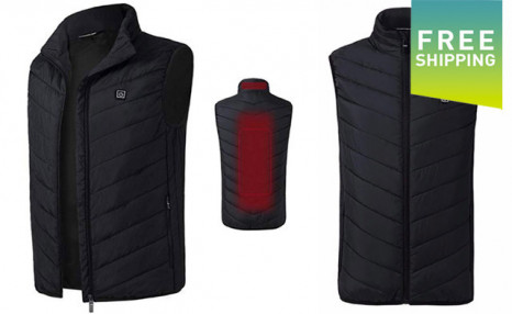 $49 for a USB Mens Electric Heating Vest - Shipping Included (a $149 Value)