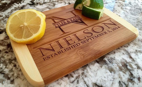 Click to view Up to 91% off Personalized Cutting Bar Boards 6x8 (Round Edge) Bamboo