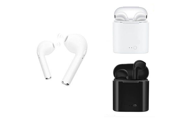 Up to 75% Off Wireless Earbuds with Charging Box and Built-In Microphone