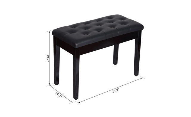 $79 for a Faux Leather Piano Bench with Storage - Shipping Included (a $149.99 Value)