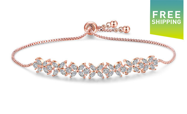 $19 for an Adjustable Swarovski Elements Small Clover Bracelet - Shipping Included (a $129 Value)